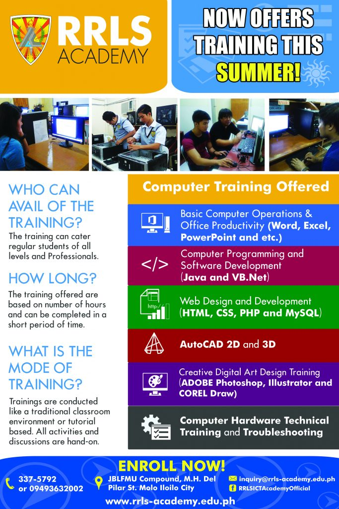 RRLS now offers Summer Computer Training 2019 - Institutional Training